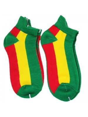 Rastafarian Flag Design Trainer Socks