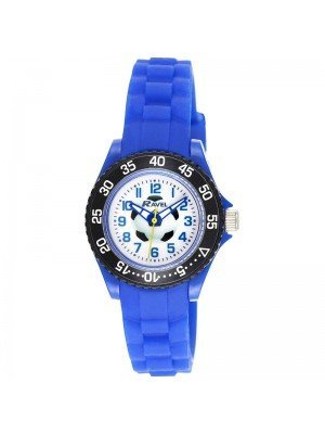 Wholesale Ravel Boys Football Design Silicone Strap Watch - Blue