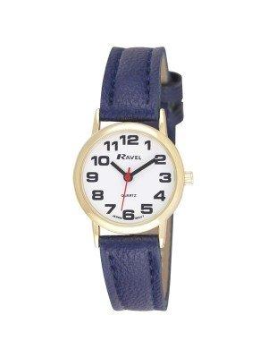 Ravel Ladies Classic Strap Watch - Gold & White