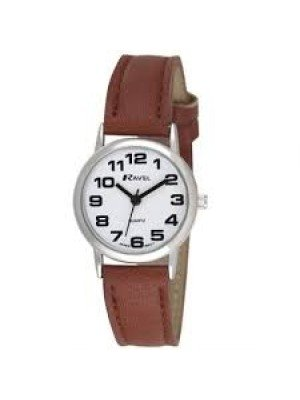Ravel Ladies Classic Strap Watch - Silver & White