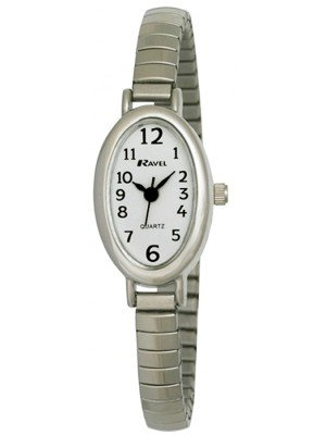Wholesale Ravel Ladies Polished Petite Oval Watch - Silver