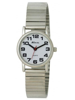 Wholesale Ravel Ladies Polished Round Watch - Silver