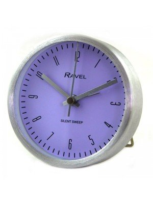Wholesale Ravel Quartz Metal Round Table Alarm Clock - Silver