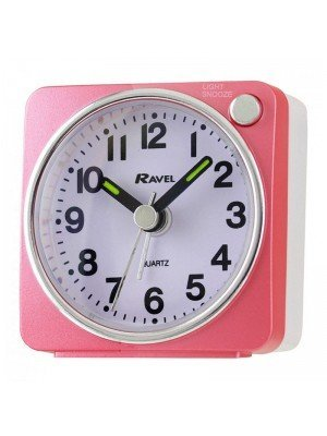 Wholesale Ravel Quartz Mini Alarm Clock - Pink