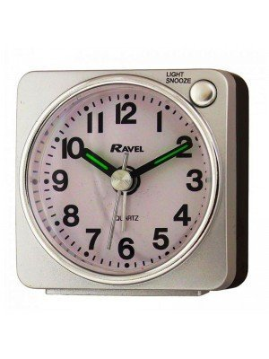 Wholesale Ravel Quartz Mini Alarm Clock - Silver