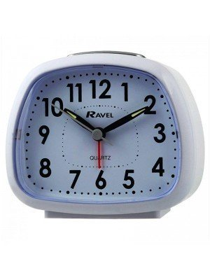 Wholesale Ravel Quartz Table Alarm Clock - White
