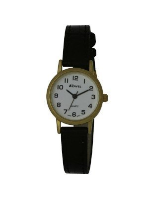 Ravel Ladies Polished Round Watch - Gold