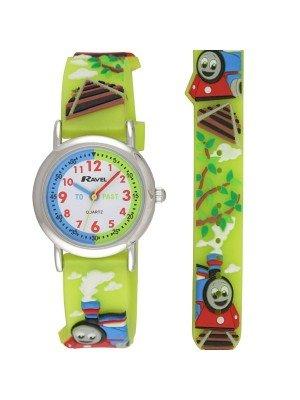 Ravel Boys Train Design Time Teacher Watch - Green