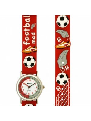 Ravel Childrens Football Mad Design Watch - Red