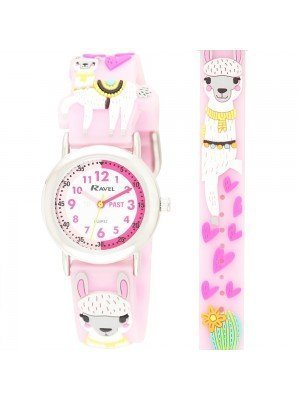Ravel Girls Llama Design Time Teacher Watches - Pink