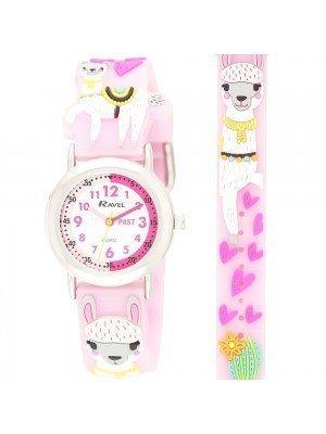 Ravel Girls Llama Design Time Teacher Watches - Pink