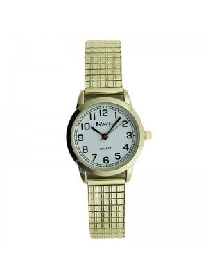 Ravel Ladies Classic Metal Expander Watch - Gold