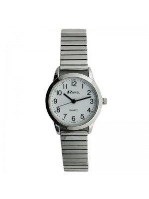 Ravel Ladies Classic Metal Expander Watch - Silver