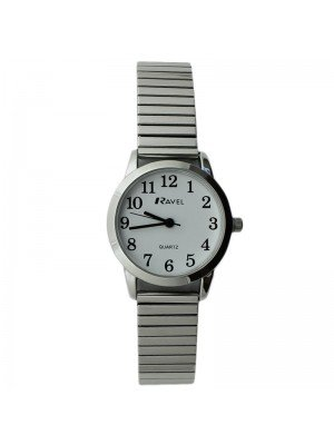 Ravel Ladies Classic Metal Expander Watch - Silver