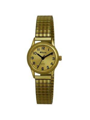 Ravel Ladies Round Classic Expander Bracelet Watch - Gold