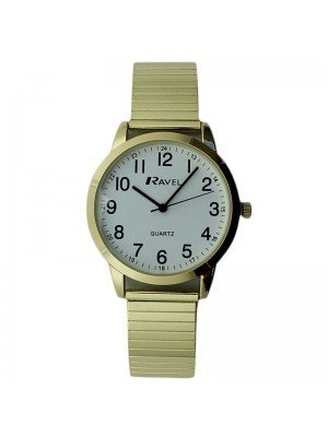 Ravel Mens Metal Expander Classic Fashion Watch - Gold