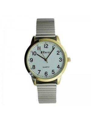 Ravel Mens Metal Expander Classic Fashion Watch - Gold & Silver
