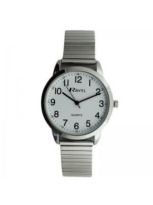 Ravel Mens Metal Expander Classic Fashion Watch - Silver