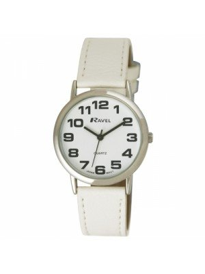 Ravel Mens Round Classic Watch - White