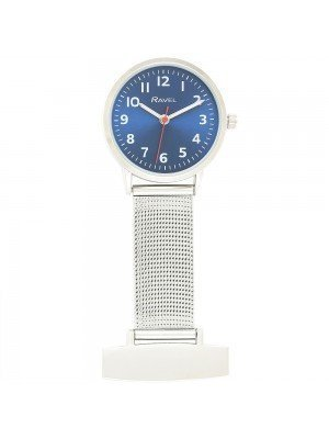 Ravel Nurses Fob Watch - Silver & Blue