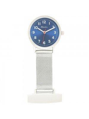 Ravel Nurses Fob Watch - Silver & Blue