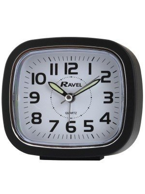 Ravel Quartz Alarm Clock - Black
