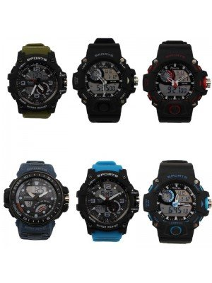 Ravel Dual Time Multi-Function Sports Watch- Assorted Designs