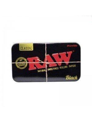 Raw Classic Printed Tin- Black