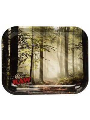 """RAW Large Rolling Metal Tray """"Forest Design"""" - 34 x 27.5cm"""