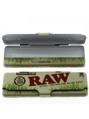 RAW Organic Hemp Tin Case Paper Holder