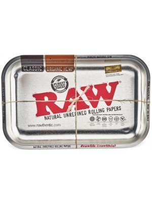 """Wholesale RAW Small Metal Tray """"Silver"""" - 27.5 x 18cm"""
