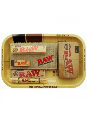 RAW Rolling Smoking Gift Set Tray- Large