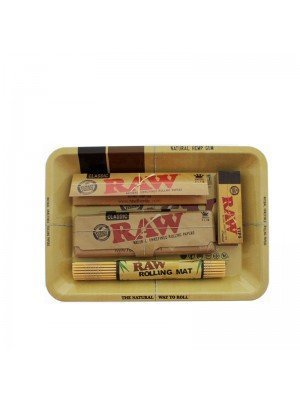 Wholesale RAW Rolling Smoking Gift Set Tray- Small - Assorted Colours