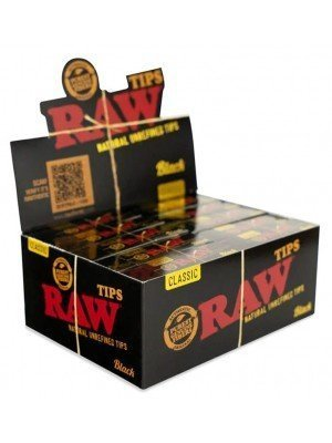 Wholesale RAW Natural Black Classic Unrefined Tips - Black