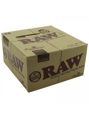 RAW Classic Connoisseur Rolling Papers & Tips KIngsize Slim