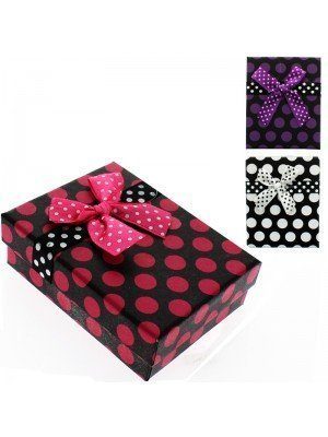 Rectangle Gift Box Polka Dot Assorted Colours (9x7x3cm)