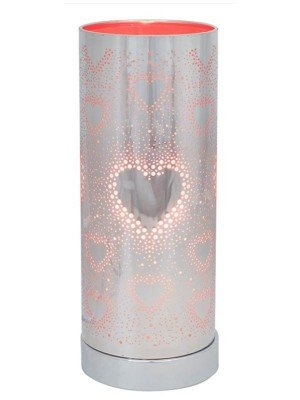 Wholesale Red & Silver Heart Aroma Touch Lamp - 26cm