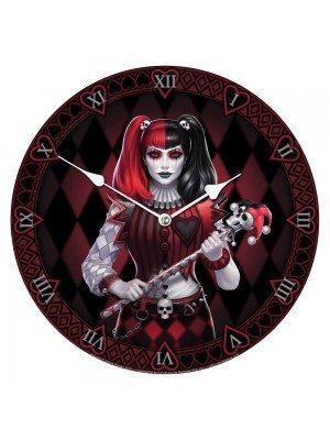 Gothic Joker Jester Wall Clock