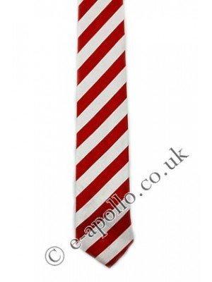 Red & White Stripe Tie