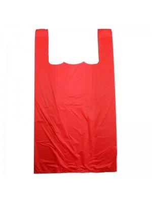 Red Vest Carrier bag - 11'' x 14.5''