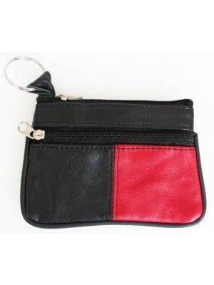 Wholesale Leather Coin Purse-Red & Black(12cm x 8cm)