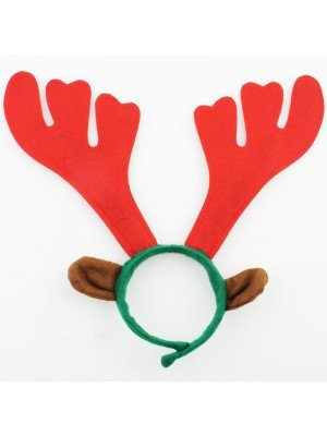 Red & Green Reindeer Headband - 33cm