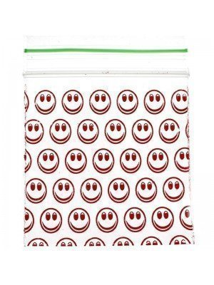 Wholesale Grip Seal Printed Baggies Smiley Face 50mmx50mm