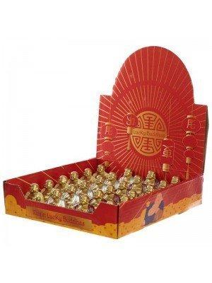 Mini Glitter Lucky Buddha Figurines Assorted