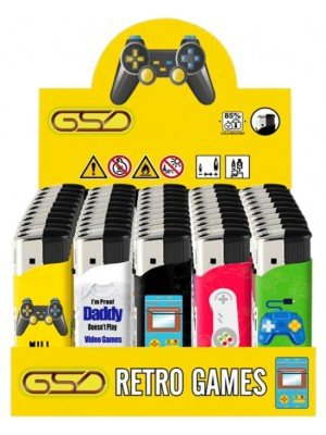 """Wholesale GSD Electronic """"Retro Games"""" Design Refillable Lighters"""