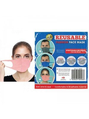 Wholesale Reusable Stretchable Spandex Face Mask - Assorted Colours