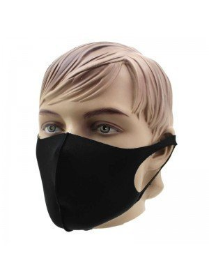 Wholesale Reusable Stretchable Face Covering Mask- Black