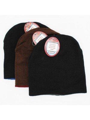 Unisex Reversible Beanie Hat - Assorted Colours
