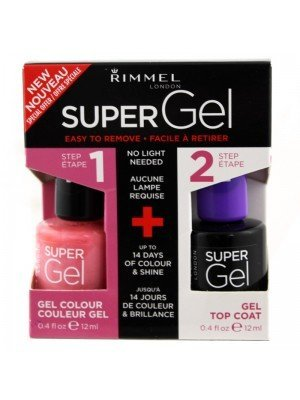 Wholesale Rimmel London Super Gel Nail Polish Duo Pack - Top Coat & Angel Wing