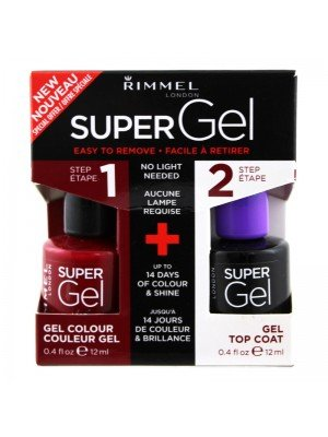 Wholesale Rimmel London Super Gel Nail Polish Duo Pack - Top Coat & Rock n Roll